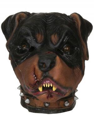 Zombie Rottweiler Dog Horror Latex Rubber Mask Fancy Dress Halloween - Rottweiler Kostüm