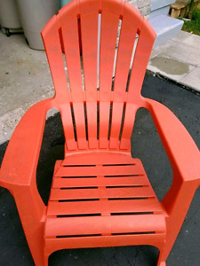 Red plastic chair comfortable