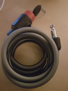 Cable bicycle lock with key