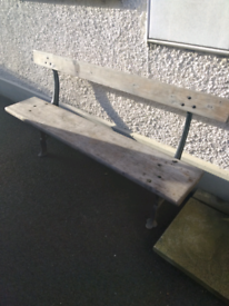 Old Traditional Cast Iron Garden Bench Seat