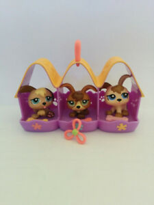 Littlest Pet Shops group of 3 dogs and kennel, $10