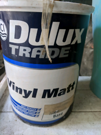 Brand new 5 litre Dulux trade Matt warm pearl colour