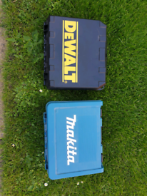 Dewalt and makita cases
