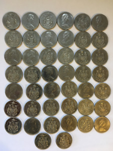 Coins: 1969 and up Canadian 50 cent pieces