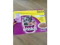 2 Boxes Whiskas Kitten 2-12 months Poultry Selection Pouches