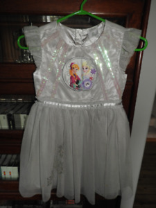 Grey/silver Disney Anna and Elsa dress with sequins