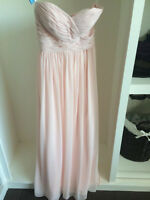 Petal Pink Chiffon Bill Levkoff Bridesmaid Dress