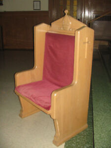 PARSONS CHAIR, MARVELOUS THICK HARDWOOD FRAME