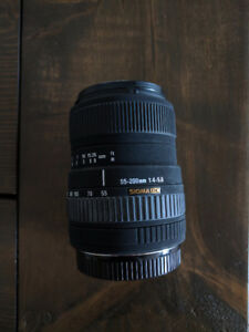 Sigma 55-200mm f/4-5.6 DC Telephoto Zoom Lens for Canon