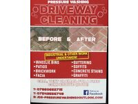 Driveway cleaning, patio cleaning, jet washing