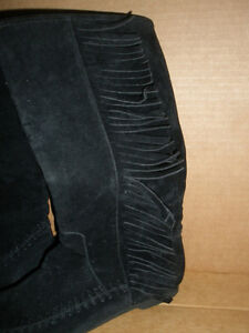 NEW!  Low Black Boots with Fringe, Size 7 London Ontario image 2