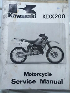 1989 Kawasaki Factory KDX200 Service Manual