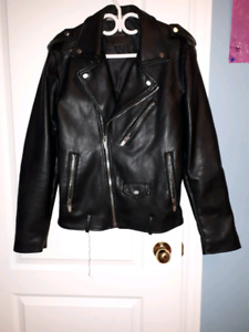 Men leather jacket  from zara (medium)