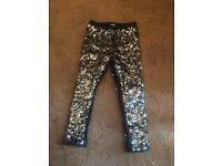 Sequin black trouser age 5-6