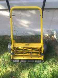 manual lawn mower and edge trimmer