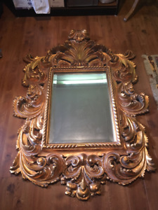 Large Ornate Wall Mirror