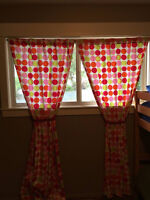 kids curtain panels with tie backs $20 for both- in Vernon