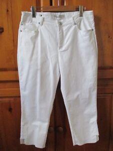 Pantalon Capri blanc Simon Chang