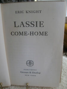 LASSIE COME HOME HARDCOVER BOOK 1940 ISSUE