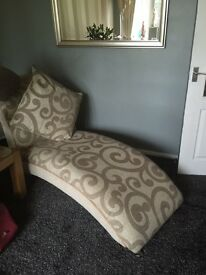 DFS. Chaise lounge matching 3 seater and 2 seater couches