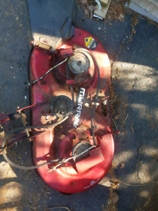 """150 obo, murray 40"""" cut dubble blade mower deck pully powered"""