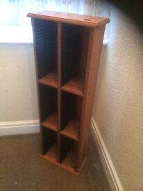 Solid pine CD Rack with inlaid old pennu