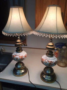 Two Matching Vintage Ceramic Table Lamps