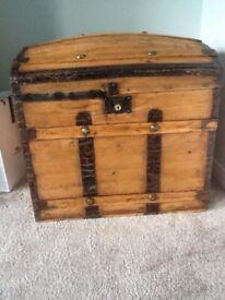 Victorian antique trunk