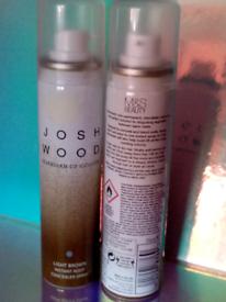 2 x M&S Josh Wood hair colour spray, light brown. New
