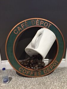 Vintage Advertising Coffee Sign Cafe Depot