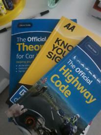 Test driving books.