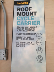For sale halfords roof mount cycle rack