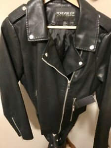 Forever 21 Faux Leather Coat.