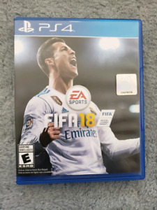 FIFA 18 For PS4 mint condition $40 only