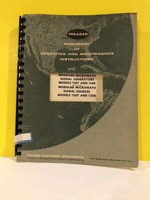 Polarad 11071108 Modular Microwave Signal Generators 12071208 Signal Sources