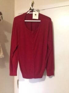 New Red Cardigan w/ Tags