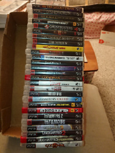 PS3 game bundle. 27 in total.