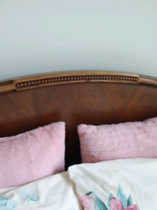 Antique double  bed frame in EUC.