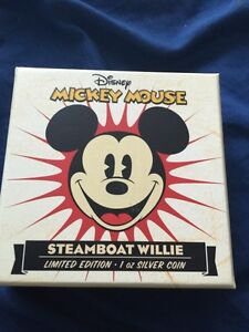 Steamboat Willie 1oz Silver Coin