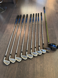 GOLF SET - Titleist irons and wedge, Ping driver, Odyssey putter