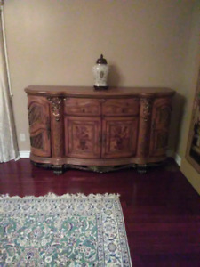Dresser with veneer work and ormolu designed by Michael Amini