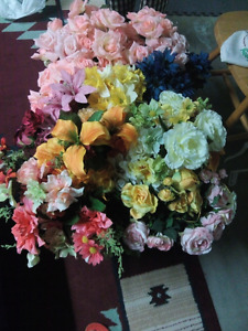 One box of artificial flowers