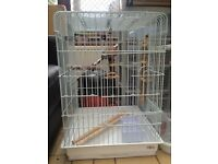 Large Open Top Bird Cage Like New