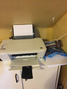 Printer with Ink and Paper
