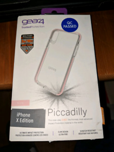 Gear4 iPhone X - D30 Clear/Rose Gold Piccadilly Case