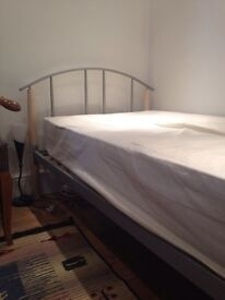 Lovely single bed frame with mattress