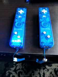 2 Rock Candy blue Wii controllers for sale! Works with Wii U too