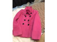 Red herring pink coat size 10
