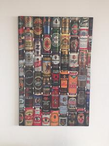 Beer cans portrait