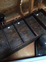 3 large compartment shelves